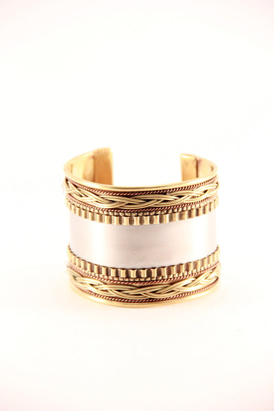 Metallic Patterned Cuff