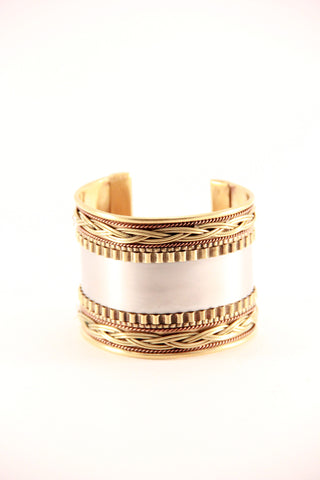 Metallic Patterned Cuff - Indiverve