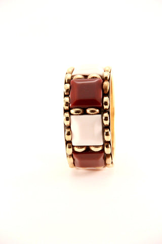 Colour Block Bangle in Brown - Indiverve