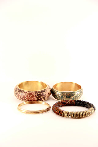 assorted patterned bangles