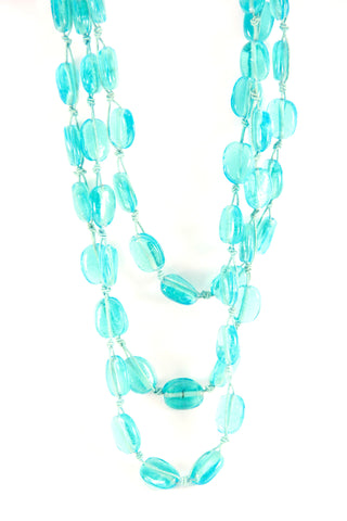 Turquoise Threaded Necklace - Indiverve
