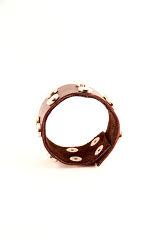 Studded Leather Cuff - Indiverve
