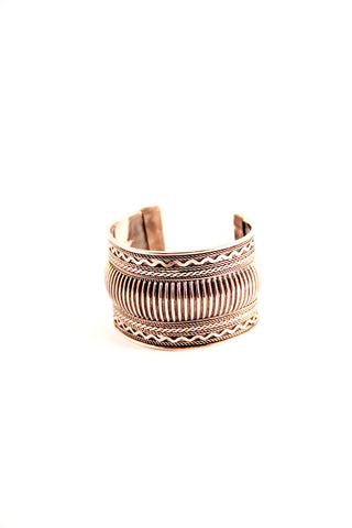 Silver Embossed Cuff - Indiverve