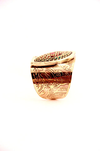 Tribal Diamond Cuff in Gold - Indiverve