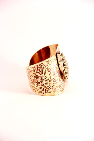 gold etched cuff