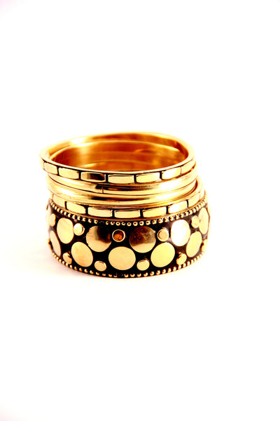 Studded Bangles in Gold and Black