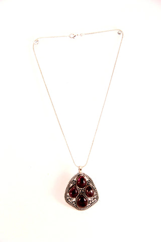 gemstone teardrops pendant