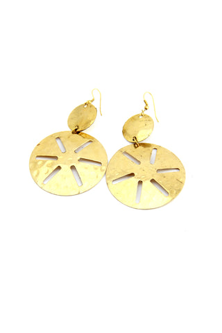 Gold Hammered Earrings - Indiverve
