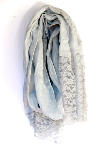 Lace Scarf in Grey Patches - Indiverve