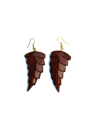 Wooden Leaf Earrings - Indiverve
