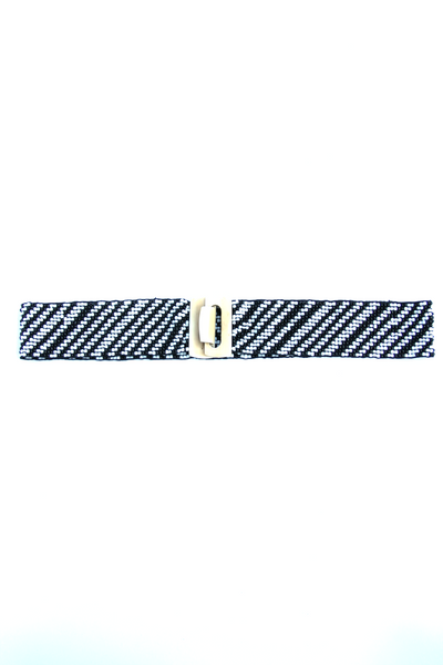 Beaded Belt in Black & White