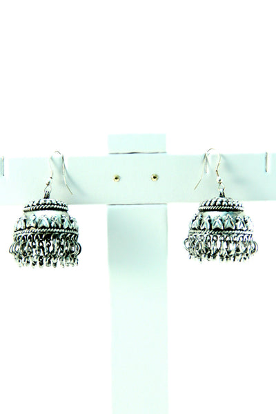 Silver Carved Earrings