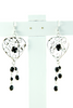 Beaded Chandelier Earrings in Black - Indiverve
