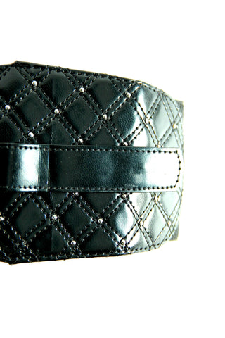 Studded Corset Belt in Black - Indiverve