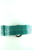green woven leather belt