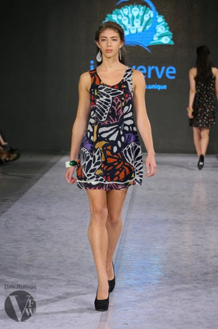 Tunic Dress in Abstract Print - Indiverve