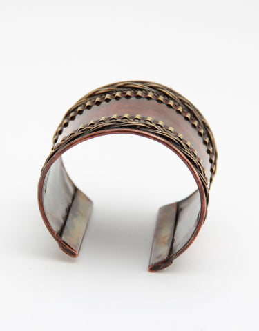 Bronze Patterned Cuff - Indiverve