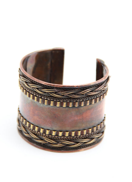 Bronze Patterned Cuff