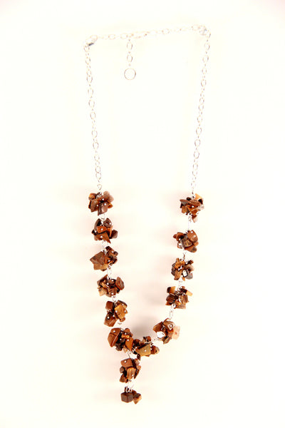 Bronze Stones Necklace Set
