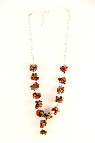 Bronze Stones Necklace Set - Indiverve