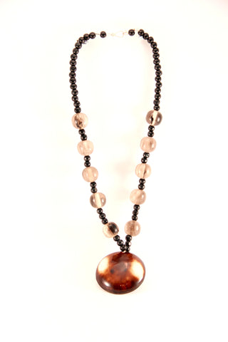 Beaded Pendant Necklace - Indiverve