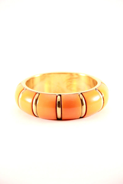 Chunky Bangle in Orange and Gold