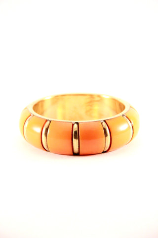 Chunky Bangle in Orange and Gold - Indiverve