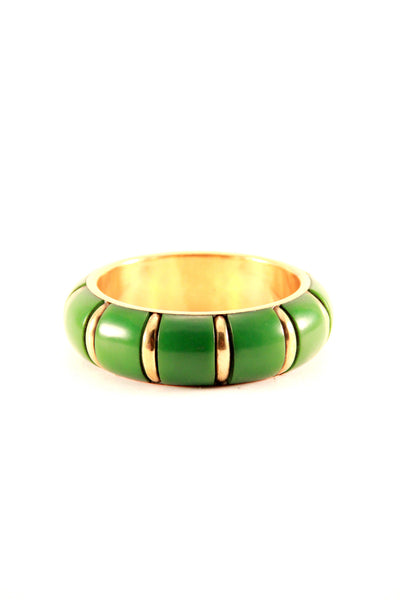 Chunky Bangle in Green and Gold