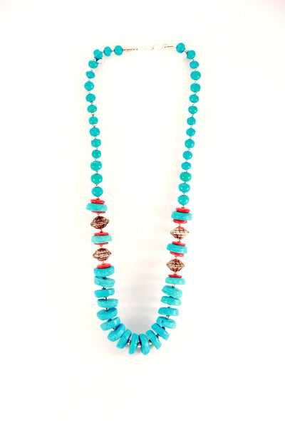 Turquoise Tribal Necklace