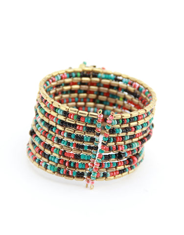 colorful beaded cuff