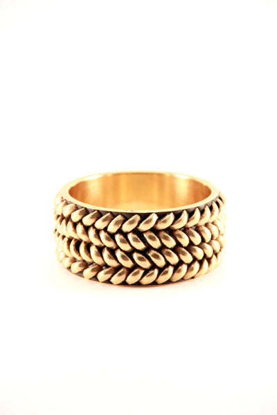 Golden Braided Bangle
