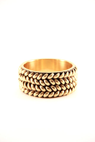 Golden Braided Bangle - Indiverve