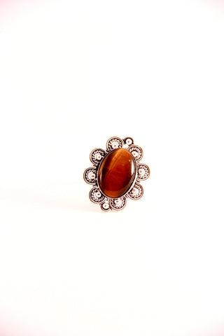 Tiger's Eye Cocktail Ring - Indiverve
