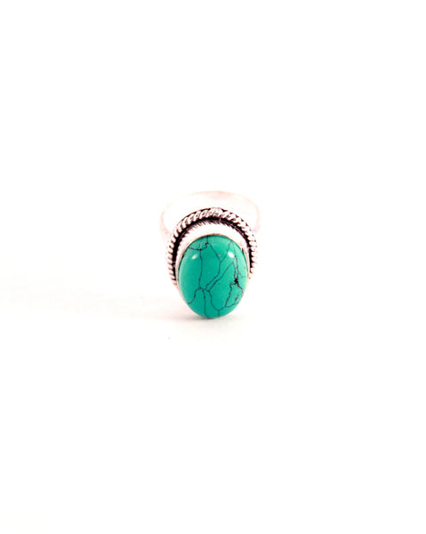 Turquoise Stone Cocktail Ring