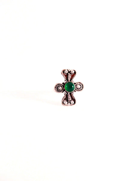 Green Stone Cocktail Ring