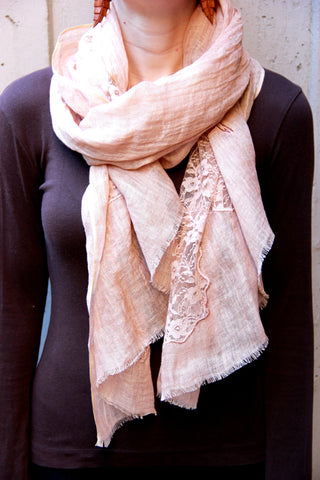 Lace Scarf in Bronze Patches - Indiverve