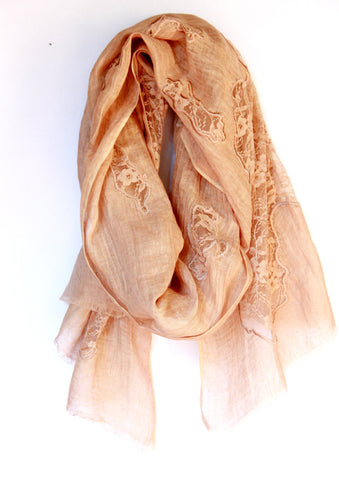Lace Scarf in Bronze Patches