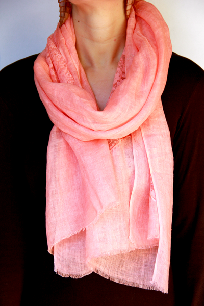 Lace Scarf in Pink Patches