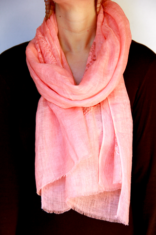 Lace Scarf in Pink Patches - Indiverve