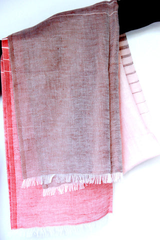Striped Scarf in Pink Fusion - Indiverve
