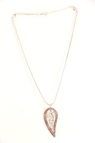 Paisley Leaf Pendant Necklace - Indiverve