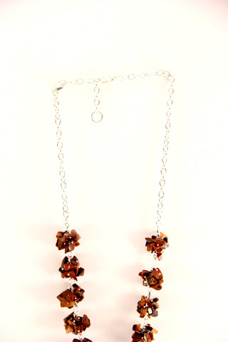 bronze stones necklace
