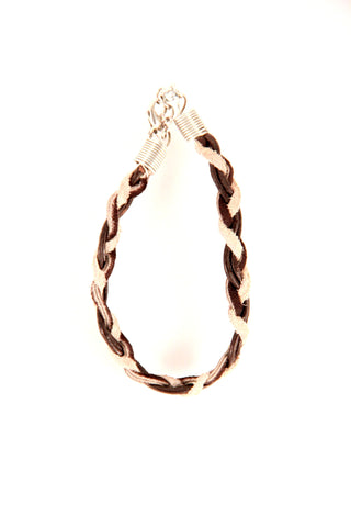 Skinny Leather Braided Bracelet