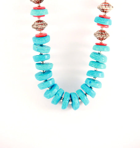Turquoise Tribal Necklace - Indiverve