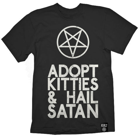 ADOPT KITTIES & HAIL SATAN TEE