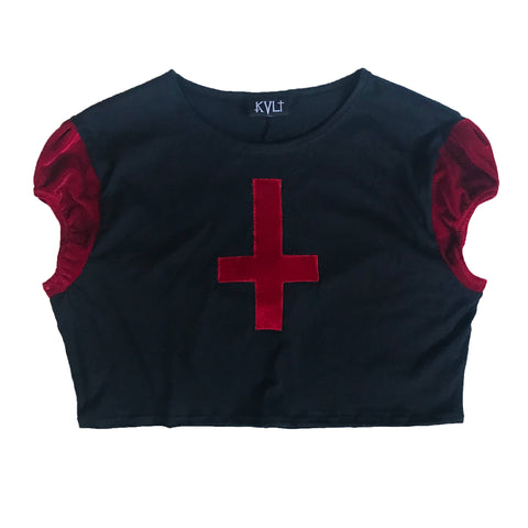 Antichrist Puff Sleeve Crop