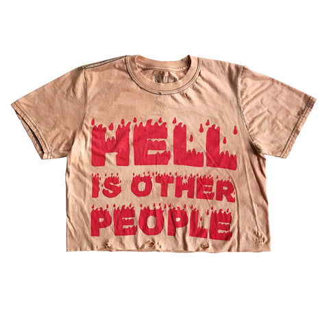 Hell is Other People Vintage Crop