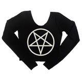 PENTAGRAM LONG SLEEVE CROP
