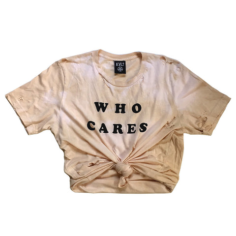 WHO CARES VINTAGE TIE CROP
