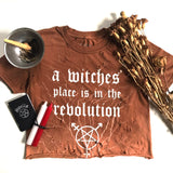 Witch Revolution Vintage Crop